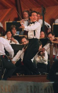 Pops conductor Keith Lockhart performed his first Fourth of July concert on the Esplanade in 1995.